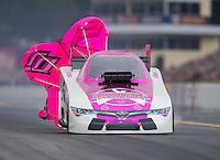 Oct 2, 2016; Mohnton, PA, USA; NHRA funny car driver Cruz Pedregon during the Dodge Nationals at Maple Grove Raceway. Mandatory Credit: Mark J. Rebilas-USA TODAY Sports