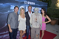Bill Bakho, Jessica Hall, Ian Ziering und Erin Ziering at the premiere of SyFy TV-Film Zombie Tidal Wave at the Garland Hotel in Los Angeles, California August 12, 2019. Credit: Action Press/MediaPunch ***FOR USA ONLY***