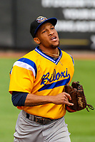 Biloxi Shuckers outfielder Johnny Davis (17) during a Southern League game against the Tennessee Smokies on May 25, 2017 at Smokies Stadium in Kodak, Tennessee.  Tennessee defeated Biloxi 10-4. (Brad Krause/Krause Sports Photography)