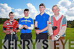Taking part in The St. Kierans Golf classic Fundraiser at Castleisland Golf Club on Saturday were Declan Murphy, Dylan Guirey, Ronan Cross and Patsy Sweeney