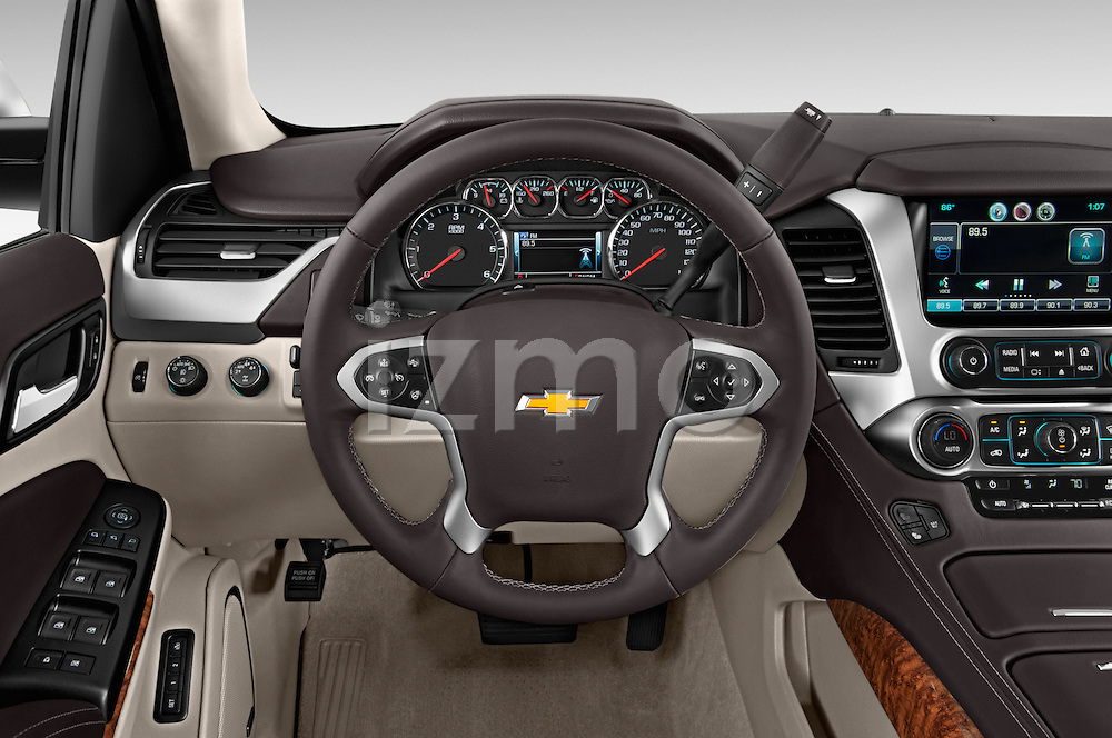 Car pictures of steering wheel view of a 2015 Chevrolet Suburban 4WD 1500 LTZ 5 Door Suv Steering Wheel