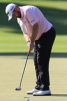 Shane Lowry (IRL) birdie putt during Saturday's Round 3 of the 2018 Turkish Airlines Open hosted by Regnum Carya Golf &amp; Spa Resort, Antalya, Turkey. 3rd November 2018.<br /> Picture: Eoin Clarke | Golffile<br /> <br /> <br /> All photos usage must carry mandatory copyright credit (&copy; Golffile | Eoin Clarke)