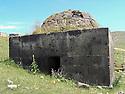 Armenia 2007  <br /> In a Yezidi graveyard, an old tomb  <br /> Armenie 2007 <br /> Dans un cimetiere Yezidi, une tombe ancienne