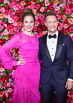 NEW YORK, NY - JUNE 10:  Nathan Johnson and Laura Osnes attend the 72nd Annual Tony Awards at Radio City Music Hall on June 10, 2018 in New York City.  (Photo by Walter McBride/WireImage)