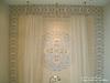 "Tatiana 10"" border and 36"" custom mosaic medallion in Celeste, Ivory Cream, Travertine White, and ivory Cream"
