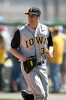 February 21, 2009:  Pitcher Mike Schurz (30) of the University of Iowa during the Big East-Big Ten Challenge at Jack Russell Stadium in Clearwater, FL.  Photo by:  Mike Janes/Four Seam Images