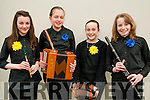 Scor ns bPaisti Chiarrai Thuaidh: Taking part in the Scor ns bPaisti Chiarrai Thuaidh held in the Marian Hall, Moyvane on Sunday last were the St.Senan's  Ceol  Uirlise group of Eva Linnane, Aoife Murphy, Sinead Behan & Aideen Quinlan.