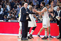 Real Madrid's coach Pablo Laso during Euroleague match at Barclaycard Center in Madrid. April 07, 2016. (ALTERPHOTOS/Borja B.Hojas) /NortePhoto