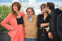 """CANNES, FRANCE. May 21, 2019: Doria Tillier, Daniel Auteuil, Fanny Ardant & Nicolas Bedos at the photocall for """"La Belle Epoque"""" at the 72nd Festival de Cannes.<br /> Picture: Paul Smith / Featureflash"""