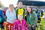 Kerry footballer Denis Daly with Aoife, Mary and Maeve Daly, Cahersiveen, pictured at the Kerry Team Open Day Meet and Greet, at Fitzgerald Stadium, Killarney on Saturday last.