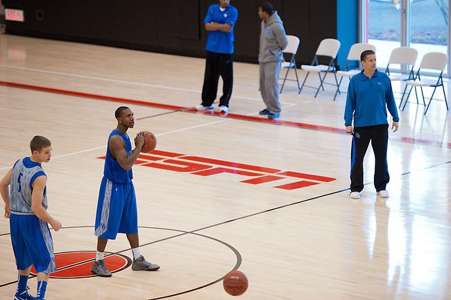 November  18, 2011 - Bristol, CT - ESPN Gym:  University of Kentucky Wildcats Men's Basketball Practice...Credit: Joe Faraoni/ESPN