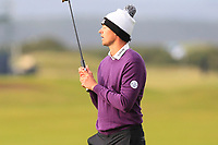 Victor Perez (FRA) on the 16th green during Round 4 of the Alfred Dunhill Links Championship 2019 at St. Andrews Golf CLub, Fife, Scotland. 29/09/2019.<br /> Picture Thos Caffrey / Golffile.ie<br /> <br /> All photo usage must carry mandatory copyright credit (© Golffile | Thos Caffrey)