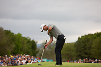Adam Scott (AUS) lines up his final putt on the 18th during Round 4 of the Australian PGA Championship at  RACV Royal Pines Resort, Gold Coast, Queensland, Australia. 22/12/2019.<br /> Picture Thos Caffrey / Golffile.ie<br /> <br /> All photo usage must carry mandatory copyright credit (© Golffile   Thos Caffrey)