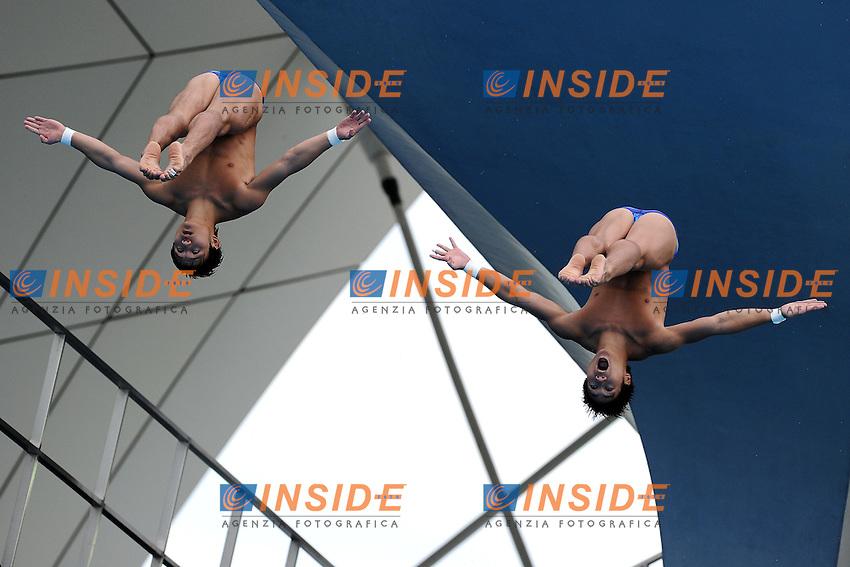 Bo QIU and Liang HUO China gold medal.Men's 10m Synchro Platform - Tuffi Piattaforma Sincronizzato 10 metri.Shanghai 17/7/2011 .14th FINA World Championships.Foto Andrea Staccioli Insidefoto