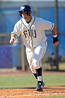 28 February 2010:  FIU's Mike Martinez (40) prepares to run home as the FIU Golden Panthers defeated the Oral Roberts Golden Eagles, 7-6 (10 innings), at University Park Stadium in Miami, Florida.