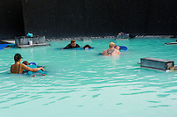 Massages in the Blue Lagoon in Reykjavik, Iceland.