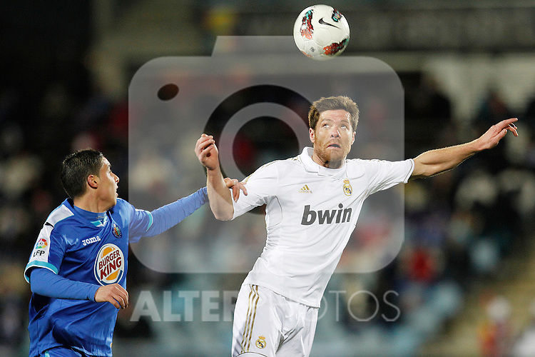Real Madrid's Xabi Alonso during la Liga match on February 4th 2012. ..Photo: Cesar Cebolla / ALFAQUI