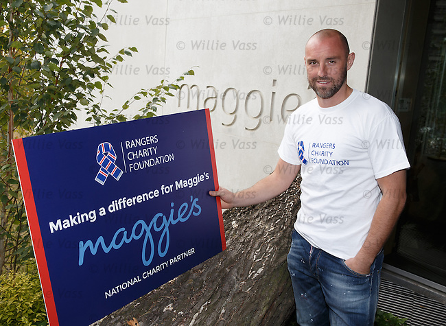 Kris Boyd at Maggie's, as the Rangers Charity Foundation give support to the cancer charity this season in memory of Sandy Jardine who received help and support from Maggie's throughout his illness.
