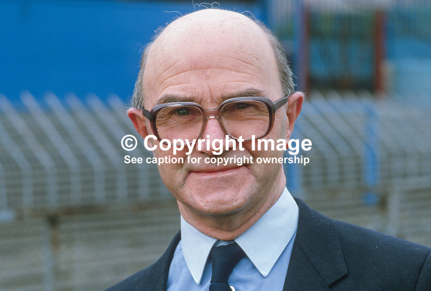 Eddie Barry, treasurer, Irish Football Association, Belfast, N Ireland, 19860403EB..Copyright Image from Victor Patterson, 54 Dorchester Park, Belfast, UK, BT9 6RJ..Tel: +44 28 9066 1296.Mob: +44 7802 353836.Voicemail +44 20 8816 7153.Skype: victorpattersonbelfast.Email: victorpatterson@mac.com.Email: victorpatterson@ireland.com (back-up)..IMPORTANT: If you wish to use this image or any other of my images please go to www.victorpatterson.com and click on the Terms & Conditions. Then contact me by email or phone with the reference number(s) of the image(s) concerned.