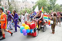 Nederland Amsterdam 2016 07 23 .  Amsterdam Europride 2016. EuroPride 2016 begint met Roze Zaterdag. Pride Walk door de stad. Foto mag niet in negatieve context gebruikt worden. Foto Berlinda van Dam / Hollandse Hoogte