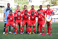Panama lines up during the group stage of the CONCACAF Men's Under 17 Championship at Jarrett Park in Montego Bay, Jamaica. The USA defeated Panama, 1-0.