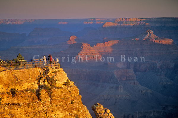 Visitors view sunrise at Grand Canyon from Mather Point on South Rim, Grand Canyon National Park, Arizona, AGPix_0354.