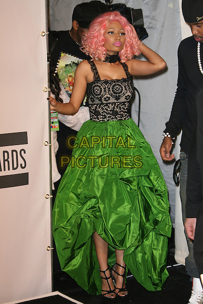 Nicki Minaj in the pressroom at the 2011 American Music Awards held at Nokia Theatre L.A. LIVE on November 20, 2011 in Los Angeles, California <br /> CAP/MPI27<br /> &copy;/MPI27/Capital Pictures