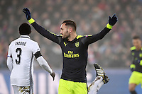 FUSSBALL CHAMPIONS LEAGUE SAISON 2016/2017 GRUPPENPHASE FC Basel - Arsenal London            06.12.2016 JUBEL Torscheutze Lucas Perez (Arsenal)