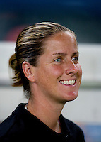 Erica Walsh. The US lost to Norway, 2-0, during first round play at the 2008 Beijing Olympics in Qinhuangdao, China.