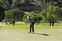 Cormac Sharvin (NIR) on the 6th green during Round 1 of the Challenge Tour Grand Final 2019 at Club de Golf Alcanada, Port d'Alcúdia, Mallorca, Spain on Thursday 7th November 2019.<br /> Picture:  Thos Caffrey / Golffile<br /> <br /> All photo usage must carry mandatory copyright credit (© Golffile | Thos Caffrey)