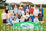 Pupils from Douglas NS with the Green Flag that they raised at the school on Monday first row l-r: June Carr, Shauna Sheehan, Emma Hurley, Lily Sue Eyers, Ben O'Dwyer, Katie Howarth, Brian Purcell. Second row: Lauren Austridge, Saskya van der Geest-Moroney, Louisa van der Geest-Moroney, Olivia Moriarty, Aine Nash-Freeman, Michelle Carr, Gary Prendergast, Colin Griffin, Adam Prendergast. Third row: Edel Griffin, Geraldine Moriarty, Colm Kingdon, Ian Costello, Ellie Costello, Aoife Nash-Freeman, James Hurley, Michael Teahan. Forth row: Kay Divane, Michael Costello, Christina Murphy, Norma Tyther, Keelan Griffin, David Purcell, Catriona Behan and Josephine O'Connor..