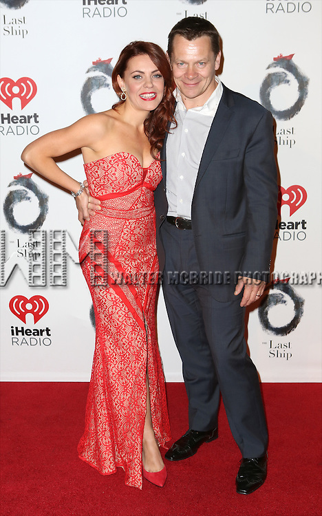 Rachel Tucker and husband Guy Retallack attends the Broadway Opening Night After Party for 'The Last Ship' at Pier 60 on October 26, 2014 in New York City.