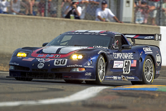 C5-R and C6.R Corvette Racing GTS, GT1, and GT2 photos from Le Mans, Sebring, Daytona, Lime Rock, Mid-Ohio, Road America, Road Atlanta, Laguna Seca and other race tracks. Motorsports competitors from automobile manufacturers Ferrari, Aston Martin, Porsche, BMW, Ford, Saleen, Maserati, Jaguar, Audi, Mazda, Peugeot, Acura, Dodge and Honda are shown. Drivers include Fellows, O'Connell, Gavin, Beretta, Magnussen, Earnhardt, Collard, Garcia, Sharp, Said, Kneifel, Pruett, Heinricy, Pilgrim, Collins, Freon, and Paul.