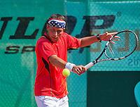 Netherlands, Amstelveen, August 23, 2015, Tennis,  National Veteran Championships, NVK, TV de Kegel,  Final men's  35+, Dennis Kockx<br /> Photo: Tennisimages/Henk Koster
