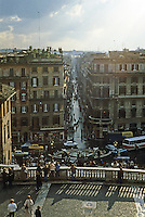 Italy: Rome--Spanish Steps viewed from above. Photo '82.