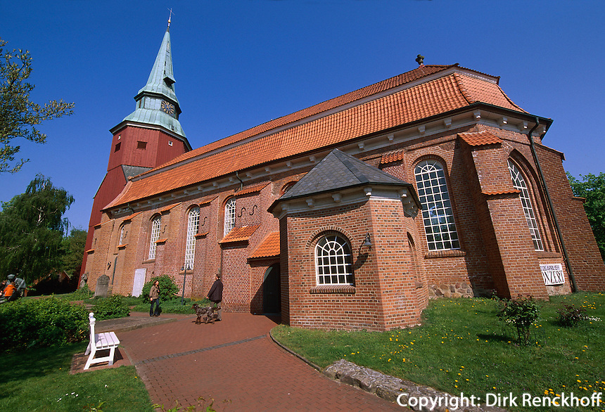 Deutschland, Niedersachsen, Altes Land, Steinkirchen, Kirche St.Martini et Nicolai