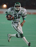 Bobby Johnson Saskatchewan Roughriders 1986. Photo F. Scott Grant