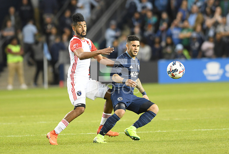 Kansas City, Kansas - March 18, 2017: Sporting Kansas City defeated the San Jose Earthquakes 2-1 in MLS action at Children's Mercy Park.