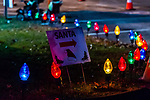 BETHLEHEM, CT. 07 December 2018-120718 - Christmas ornament lights lead the way to see Santa during the annual Christmastown Festival on the Town Green in Bethlehem on Friday. Bill Shettle Republican-American