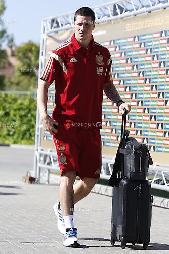 Fernando Torres (ESP), JUNE 2, 2014 - Football : Fernando Torres arrives at Las Rozas Soccer City to prepare for FIFA World Cup 2014 in Las Rozas, Madrid, Spain. (Photo by AFLO)