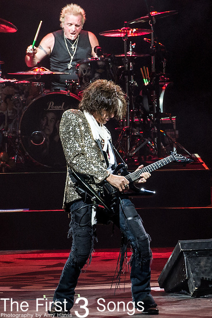 Joe Perry of Aerosmith performs at Riverbend Music Center in Cincinnati, Ohio.