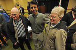Governor Bobby Jindal of Louisiana poses for pictures after an Iowa flood victims breakfast fundraiser at the Marriott Ballroom in Cedar Rapids, Iowa on November 22, 2008.