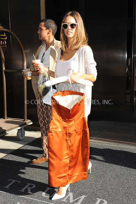 WWW.ACEPIXS.COM<br /> June 18, 2014 New York City<br /> <br /> Jessica Alba is seen leaving her SoHo Hotel in New York City on June 18, 2014.<br /> <br /> By Line: Kristin Callahan/ACE Pictures<br /> ACE Pictures, Inc.<br /> tel: 646 769 0430<br /> Email: info@acepixs.com<br /> www.acepixs.com