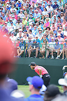 Tommy Fleetwood (ENG) watches his tee shot on 1 during Friday's round 2 of the PGA Championship at the Quail Hollow Club in Charlotte, North Carolina. 8/11/2017.<br /> Picture: Golffile | Ken Murray<br /> <br /> <br /> All photo usage must carry mandatory copyright credit (&copy; Golffile | Ken Murray)