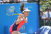 June 17th 2017, Nottingham, England;WTA Aegon Nottingham Open Tennis Tournament day 6;  Johanna Konta of Great Britain in action concentre court in her semi final match against Magdalena Rybarikova of The Slovak Republic