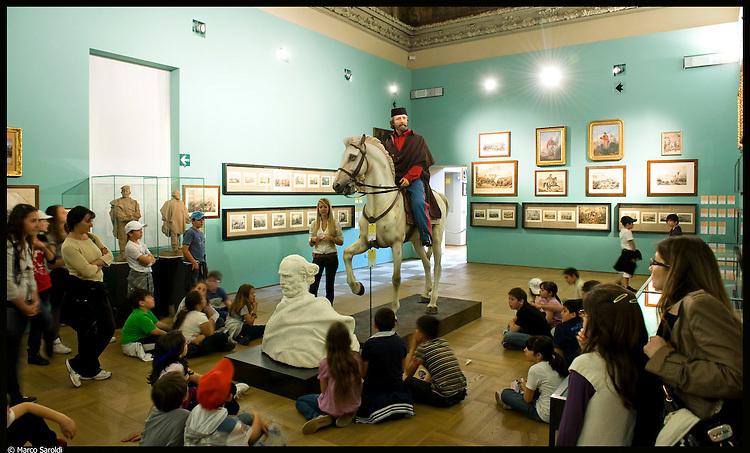 Museo del Risorgimento. Immagine appartenente al progetto fotografico Vita da Museo di Marco Saroldi.
