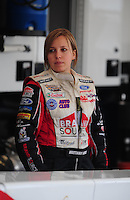Jan 23, 2009; Chandler, AZ, USA; NHRA top alcohol dragster driver Brittany Force during testing at the National Time Trials at Firebird International Raceway. Mandatory Credit: Mark J. Rebilas-