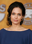 LOS ANGELES, CA. - January 25: Actress Angelina Jolie  arrives at the 15th Annual Screen Actors Guild Awards held at the Shrine Auditorium on January 25, 2009 in Los Angeles, California.