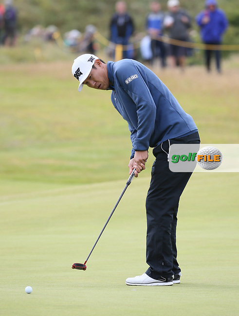 Jon Hahn (USA) at the 4th during Thursday's Round One at The 146th Open played at Royal Birkdale, Southport, England.  20/07/2017. Picture: David Lloyd | Golffile.<br /> <br /> Images must display mandatory copyright credit - (Copyright: David Lloyd | Golffile).