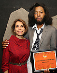 Sarah Stern, Jeremy O. Harris attends the Vineyard Theatre Paula Vogel Playwriting Award honoring Jeremy O. Harris on October 12, 2018 at the National Arts Club in New York City.